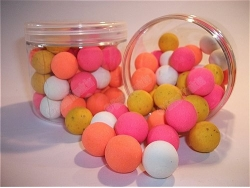 Fluoro Mixed colour Popup Boilie - Tub