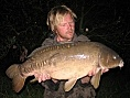 Mark Wilson, 9th Aug<br />24lb 13oz mirror
